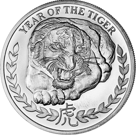 Year of the Tiger - 1 oz  Somaliland