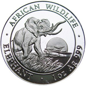 African Wildlife Elephant 2009 - 1 oz