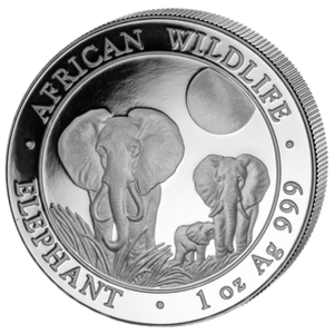 African Wildlife Elephant 2014 - 1 oz