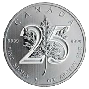 Maple Leaf  2013 (25th anniversary)- Canada 1 oz