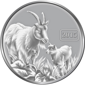 Proof Tokelau Year Goats 2015 -1 oz