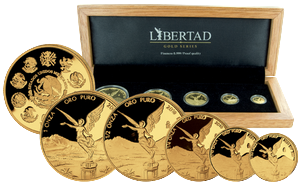 Mexiko Libertad 2010 Proof - set of golden coins