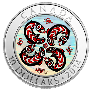 Canada F.N.Art Salmon 2014 - 1/2 oz Hologram Proof