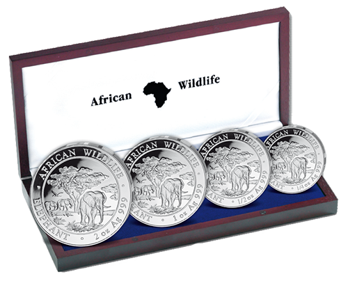 Set of coins Somalia Elefant 2012 Proof