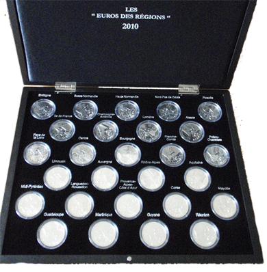Set the French region of € 10 2010 -27 coin