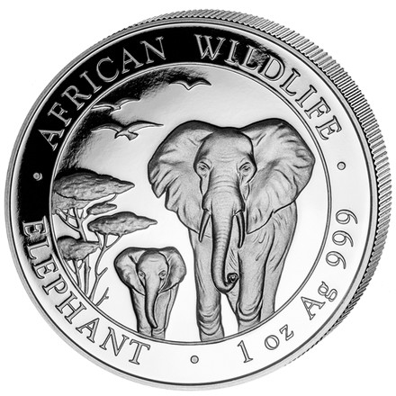African Wildlife Elephant 2015 - 1 oz