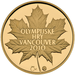 Zlatá medaile OH Vancouver 2010 proof - 1/4 oz