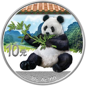 China panda 2017 - 30 g; color