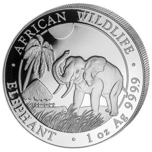 African Wildlife Elephant 2017 - 1 oz
