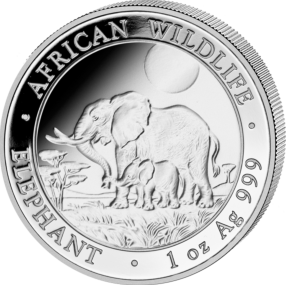 African Wildlife Elephant 2011 - 1 oz