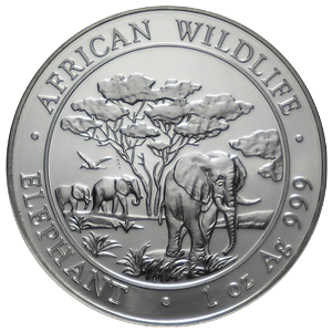 African Wildlife Elephant 2012 - 1 oz