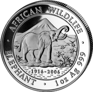 African Wildlife Elephant 2006 - 1 oz