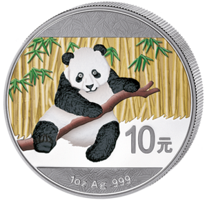 China panda 2014 1 oz; barevná