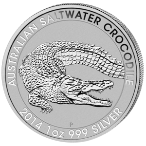 Saltwater Crocodile 2014 - 1 oz