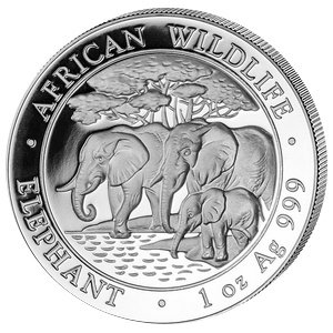 African Wildlife Elephant 2013 - 1 oz