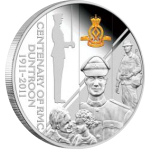 Centenary of RMC Duntroon 1911 - 2011 PROOF - 1 oz