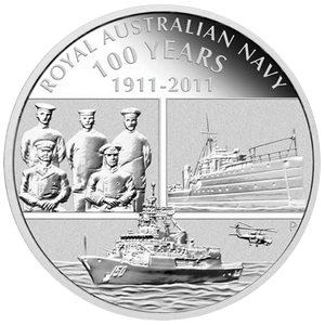 Royal Australian Navy 1911 - 2011 PROOF - 1 oz