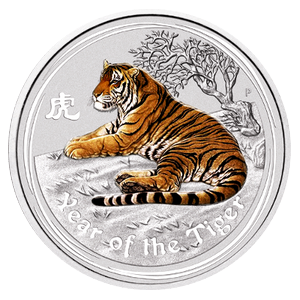 Year of the Tiger  2010 - 1 oz; barevná