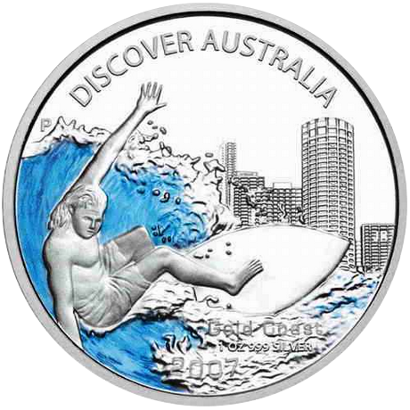 Discover Australia 2007 - 5 x 1oz Proof color