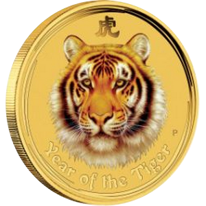 Year of the Tiger 2010 - 1/20 oz; barevná