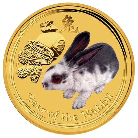 Year of the Rabbit  2011 - 1/20 oz; barevná