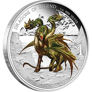 Dragons of Legends Tuvalu 5 x 1oz Proof Color 2012-2013