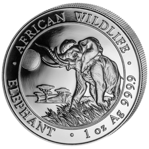 African Wildlife Elephant 2016 - 1 oz