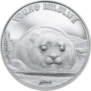 Young Wildlife Seal 2014 (PP certificate) - 1 oz