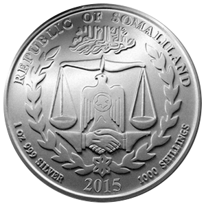 Year of the Sheep 2015 - 1 oz  Somaliland