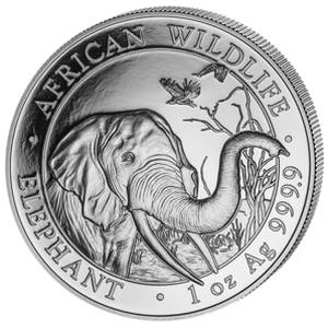 African Wildlife Elephant 2018 - 1 oz